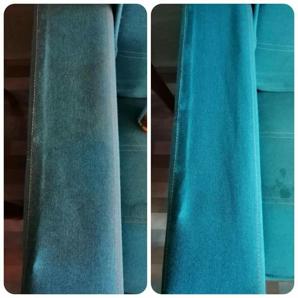 Cuci Sofa Kepam Guna Produk Pencuci RM 3 Ni Je, Lihat Hasilnya 7