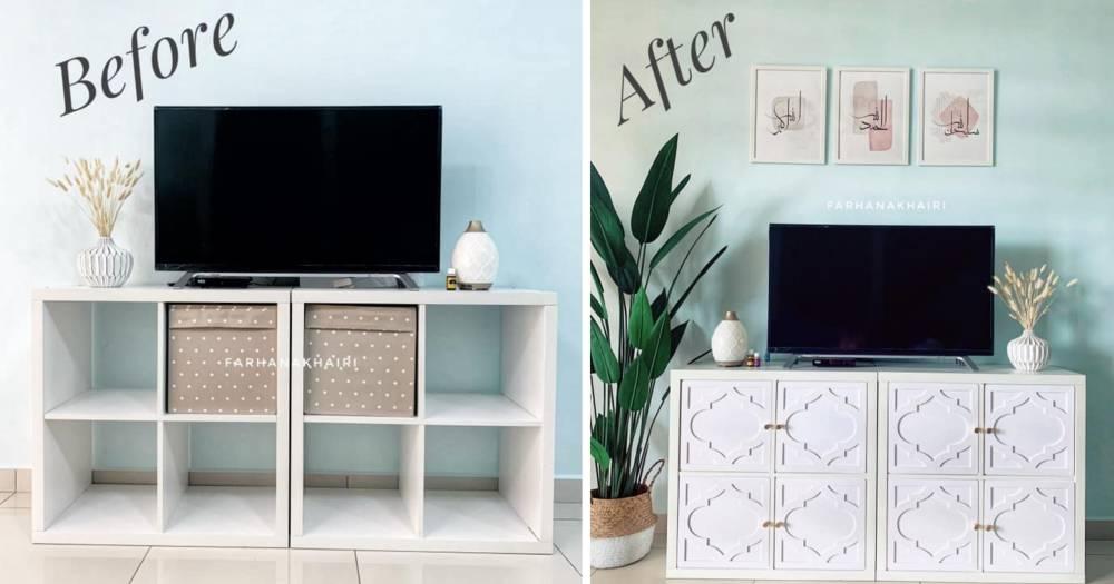 """Mudah Je """"Makeover"""" Rak Buku RM 95.90 , Guna """"Decorative Wall Decor"""" Dan Gam"""