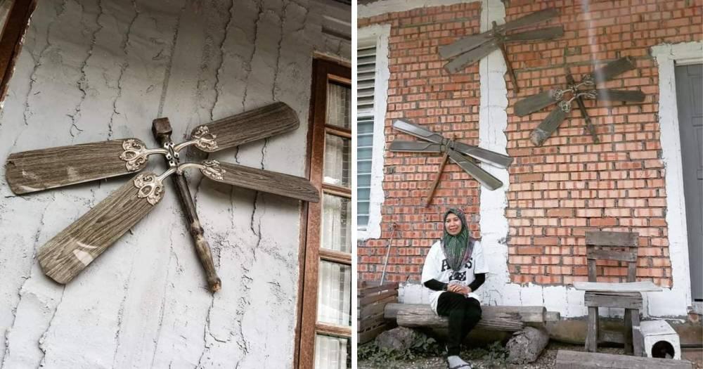"""""""Wall Decor"""" Dari Bilah Kipas Dan Kaki Meja Terapkai, Kini Jadi Tempat Bergambar Insta Worthy"""