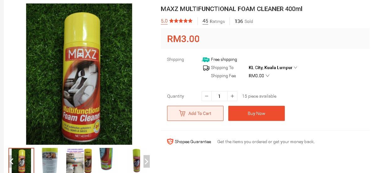Cuci Sofa Kepam Guna Produk Pencuci RM 3 Ni Je, Lihat Hasilnya 3