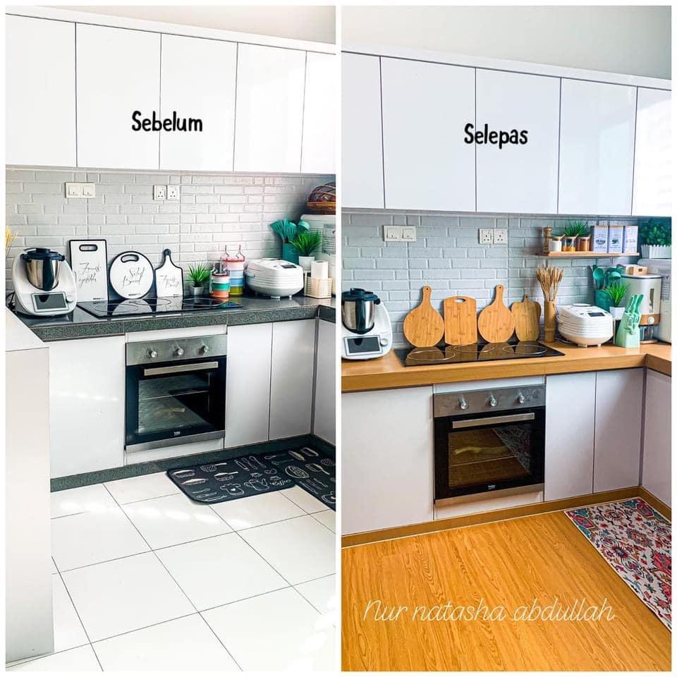 """Kuasa """"Wallpaper"""", Tak Perlu Kerja-Kerja Pecah Jubin Untuk Ubahsuai Dapur 11"""