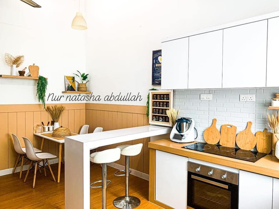 """Kuasa """"Wallpaper"""", Tak Perlu Kerja-Kerja Pecah Jubin Untuk Ubahsuai Dapur 7"""
