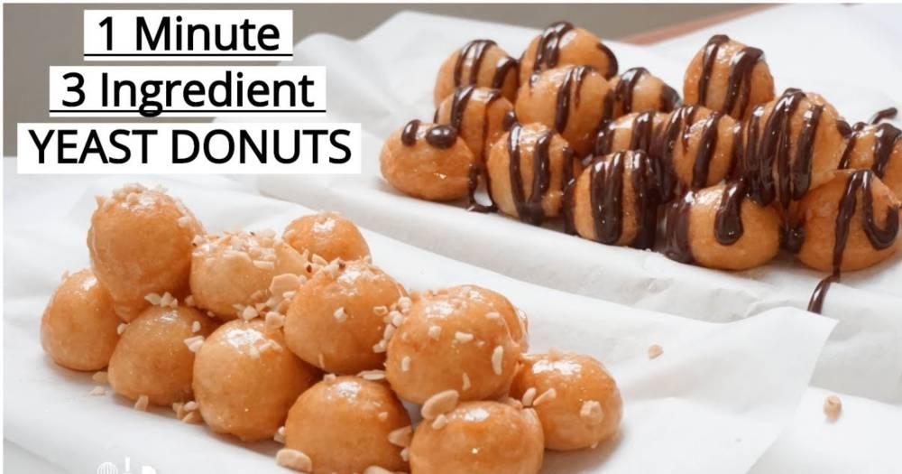 Donut 1 Minit Dengan 3 Bahan Je, Hasilnya Tetap Gebu