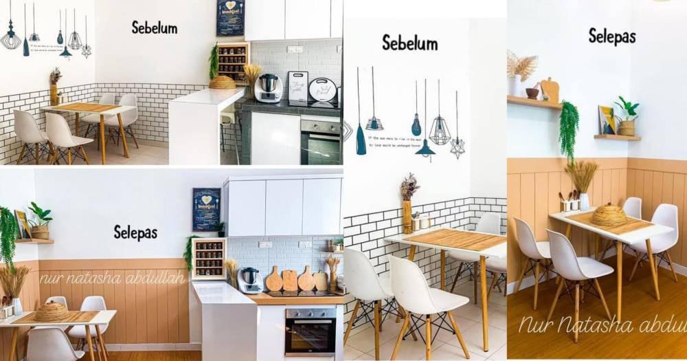 """Kuasa """"Wallpaper"""", Tak Perlu Kerja-Kerja Pecah Jubin Untuk Ubahsuai Dapur"""