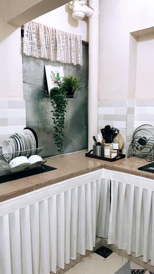 Tambah Langsir Dengan Rak Bajet, Terus Dapur Ni Nampak Cantik Dan Kemas 8