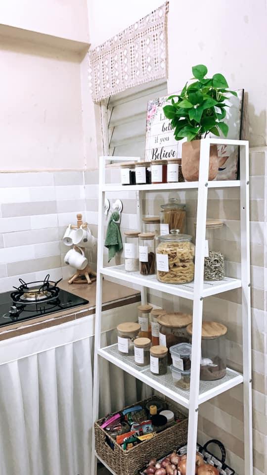 Tambah Langsir Dengan Rak Bajet, Terus Dapur Ni Nampak Cantik Dan Kemas 7