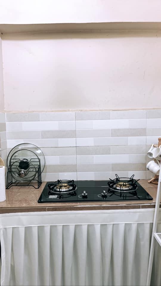 Tambah Langsir Dengan Rak Bajet, Terus Dapur Ni Nampak Cantik Dan Kemas 6