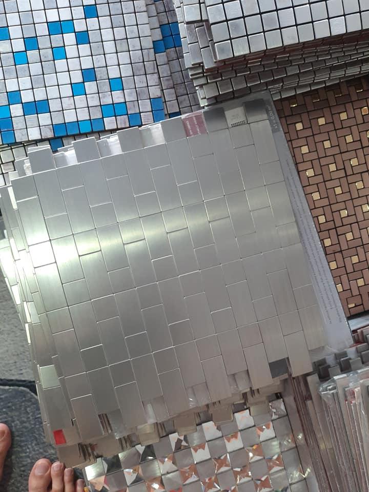 "Buat Sendiri ""Backsplash"" Jenis Aluminium Wall Tile Cantik Mcam Ni, Modal RM 80 Je 2"
