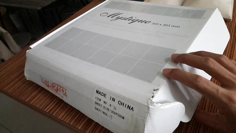 "Buat Sendiri ""Backsplash"" Jenis Aluminium Wall Tile Cantik Mcam Ni, Modal RM 80 Je 3"