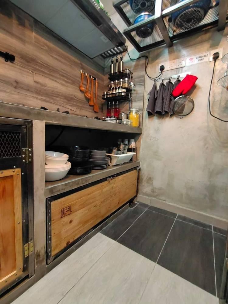 Dapur Basah Konsep Raw Industri Gaya Industri Dalaman Paling Jujur 7