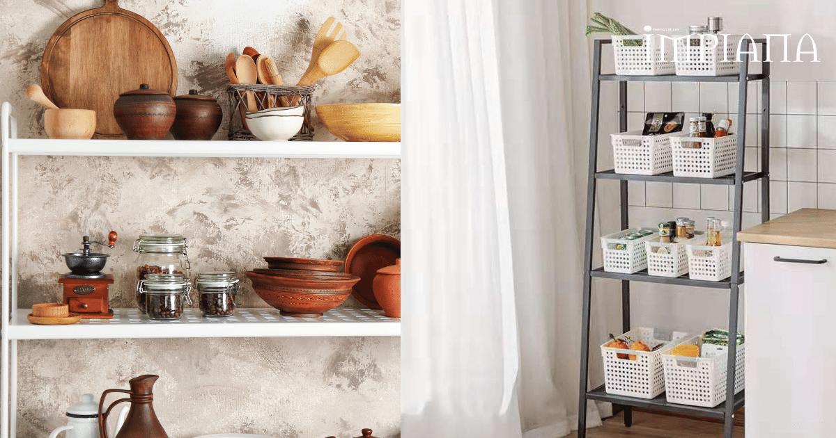 Nak Dapur Cantik & Kemas Guna Rak Tingkat Ni Bawah RM70