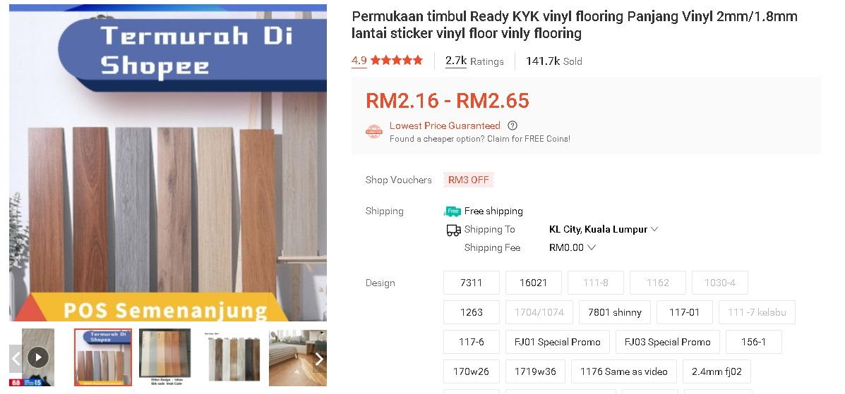 """""""Makeover"""" Bajet Dan Mudah Tangga Cantik Macam Ni Guna Vinyl RM 2 Je 2"""