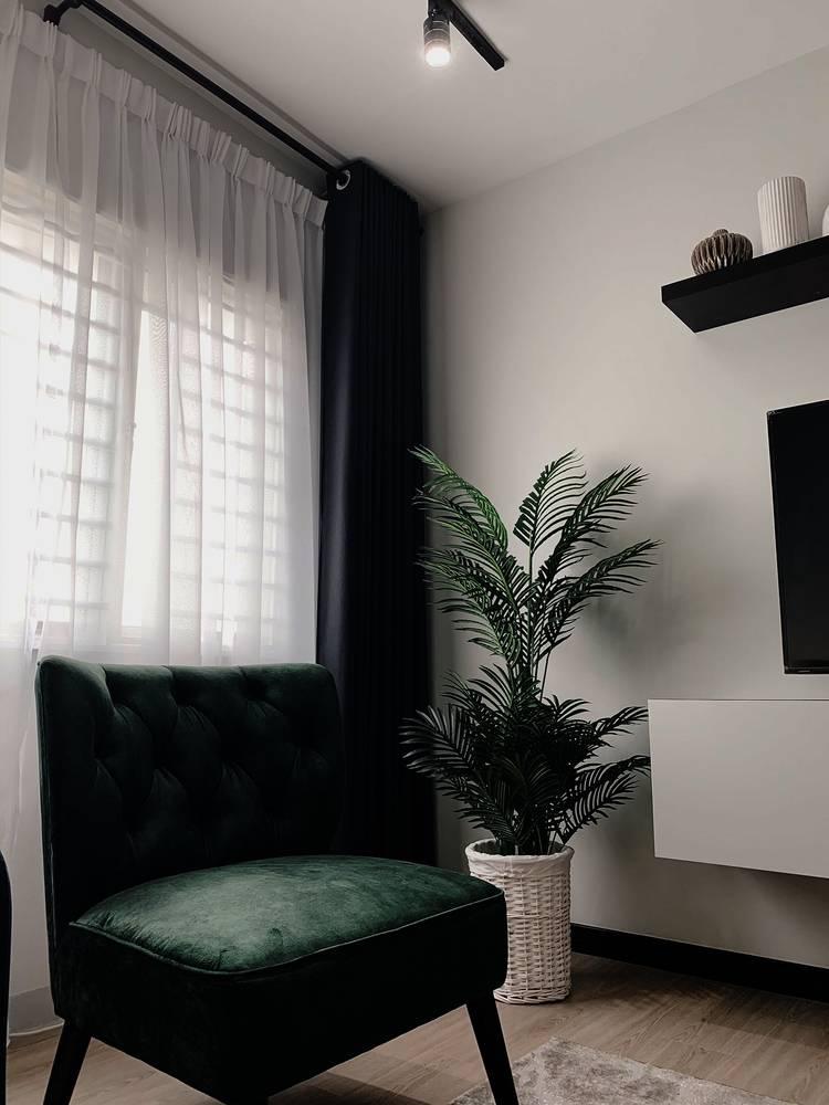 Konsep Minimalis Dengan Pilihan 'Emerald Green' Jadi Pilihan Untuk Apartmen Ini 20