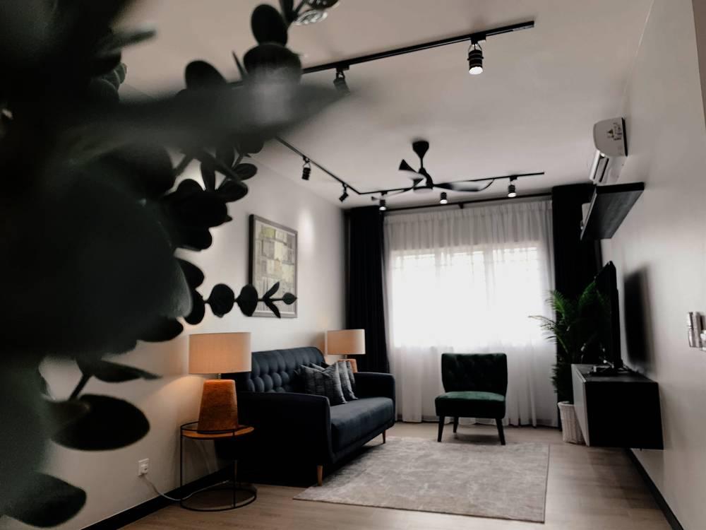 Konsep Minimalis Dengan Pilihan 'Emerald Green' Jadi Pilihan Untuk Apartmen Ini 14