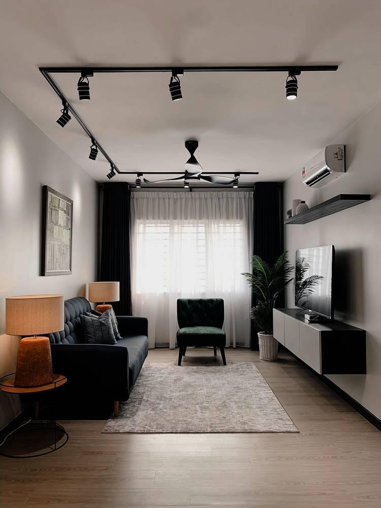 Konsep Minimalis Dengan Pilihan 'Emerald Green' Jadi Pilihan Untuk Apartmen Ini 6