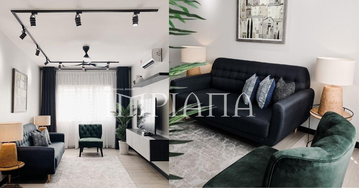 Konsep Minimalis Dengan Pilihan 'Emerald Green' Jadi Pilihan Untuk Apartmen Ini