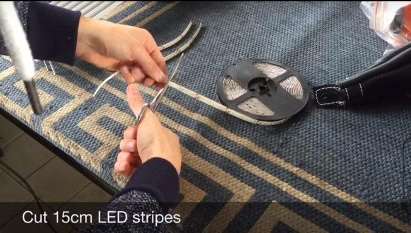 (VIDEO) Buat Sendiri Lampu Taman Dari Cable Raceways dan LED Stripe Modal Tak Sampai RM 5 Seunit 10