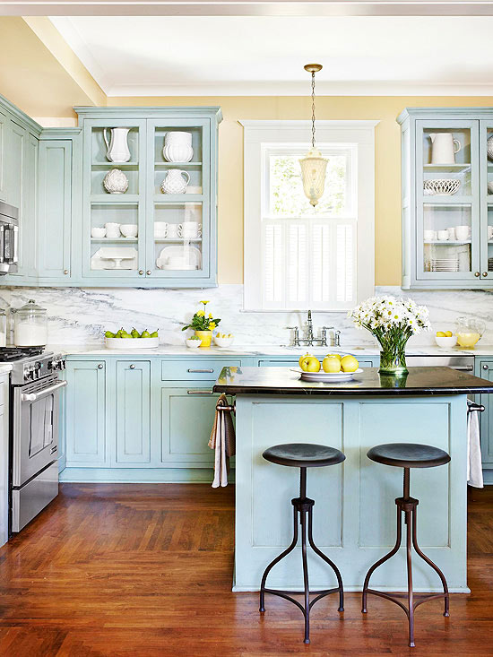 fascinating blue kitchen cabinets | fascinating-blue-green-kitchen-cabinets-new-in-cabinet ...