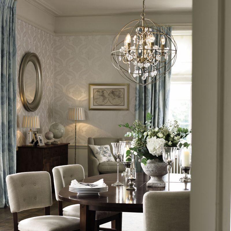 23 Dining Room Chandelier Designs Decorating Ideas: Accessories-dining-room-ideas-using-gold-shamley-sphere