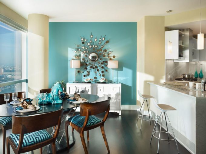 Decor Tips Awesome Dining Room Teal Home Decor Accents Color For Cool Dining Room Wall Color Ideas Charming Teal Home Decor Accents For Your Home Decoration Idea Teal Accent 680x510 Impiana