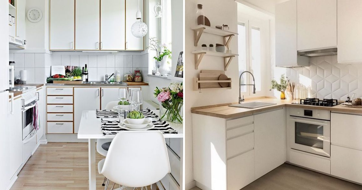 Idea Dapur Sempit Dengan Tema Rona Putih Impiana