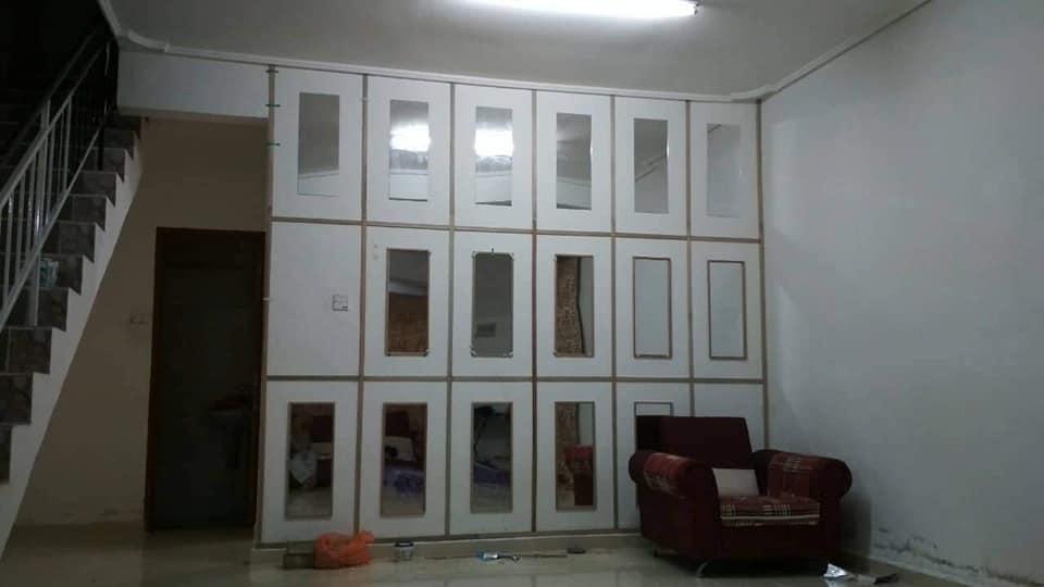 """64834525 2039355173036524 3692734283199283200 n 03 15 028992 - DIY """"Feature Wall"""" Dari Cermin Kedai Bajet RM 2"""