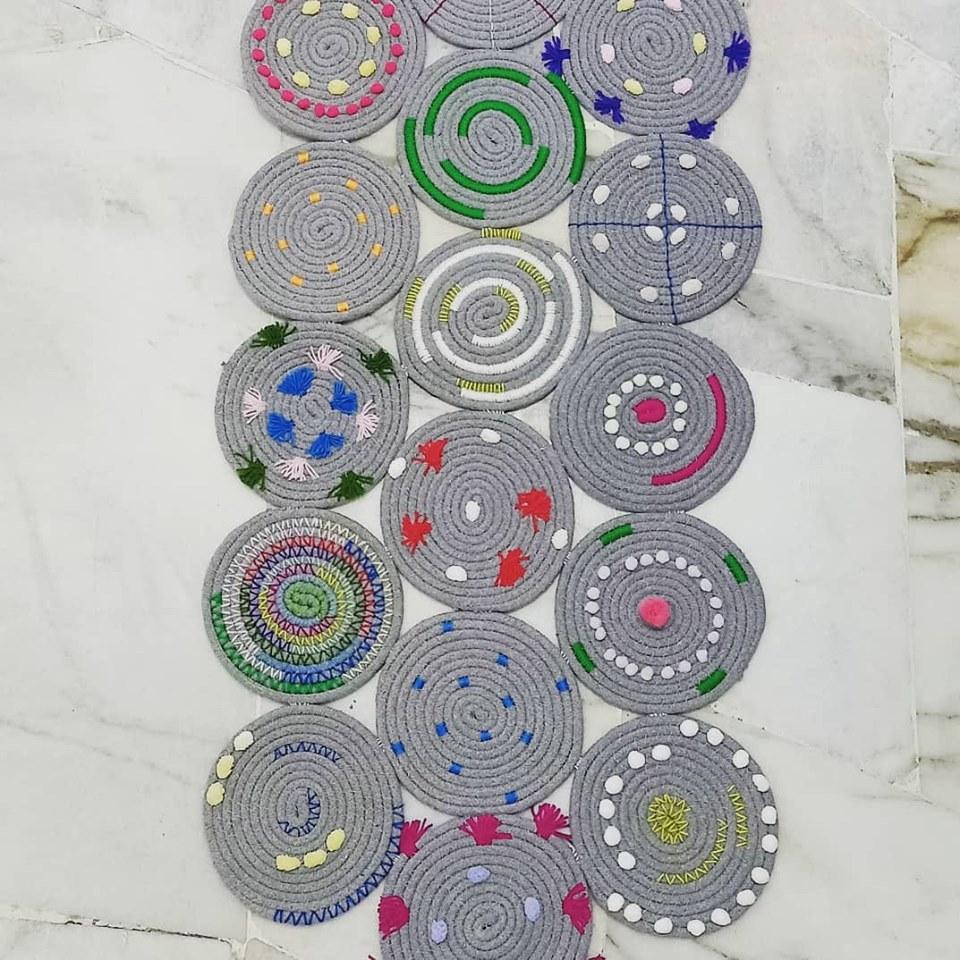 DIY Rug Kaki Cantik Dari Alas Periuk Murah 6