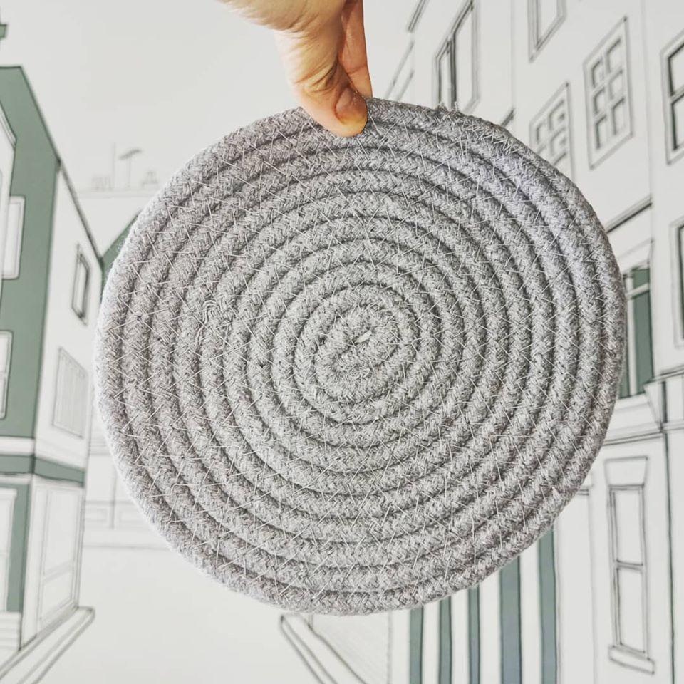 DIY Rug Kaki Cantik Dari Alas Periuk Murah 2