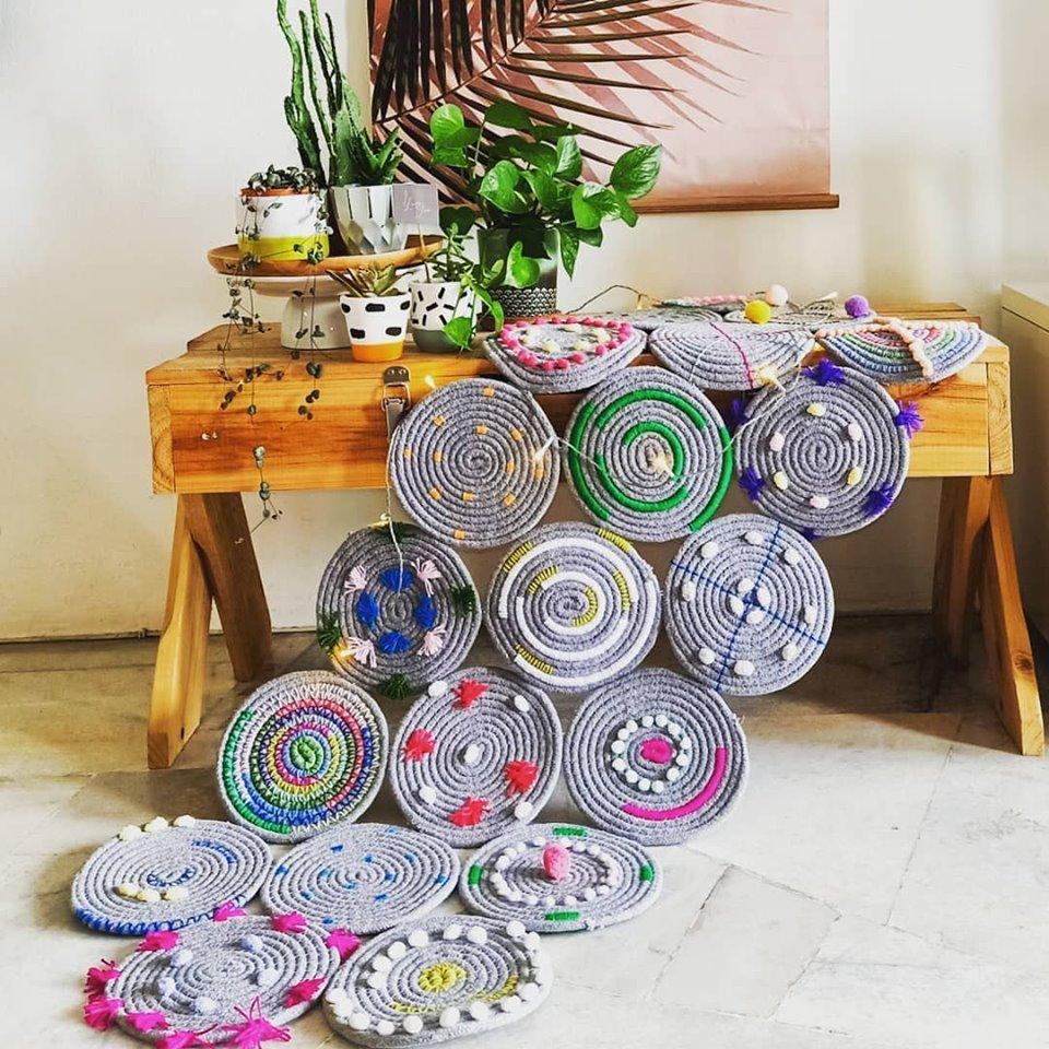 DIY Rug Kaki Cantik Dari Alas Periuk Murah 7