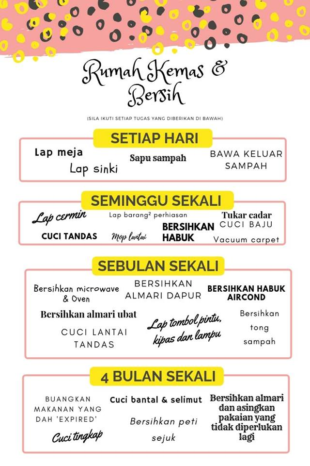 67749300 2421166751298376 4315212831235506176 n 27 18 708967 - Print Jadual Ni Kalau Nak Rumah Sentiasa Kemas Dan Bersih
