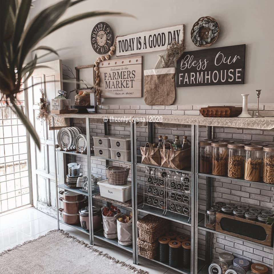 Hanya Gunakan Barangan Bajet, Dapur Dengan Konsep 'Farmhouse' Tampil Sempurna Walau Tanpa Kabinet 11