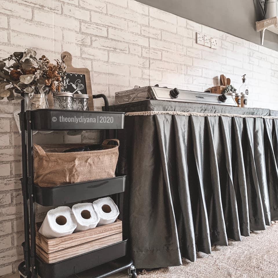 Hanya Gunakan Barangan Bajet, Dapur Dengan Konsep 'Farmhouse' Tampil Sempurna Walau Tanpa Kabinet 6