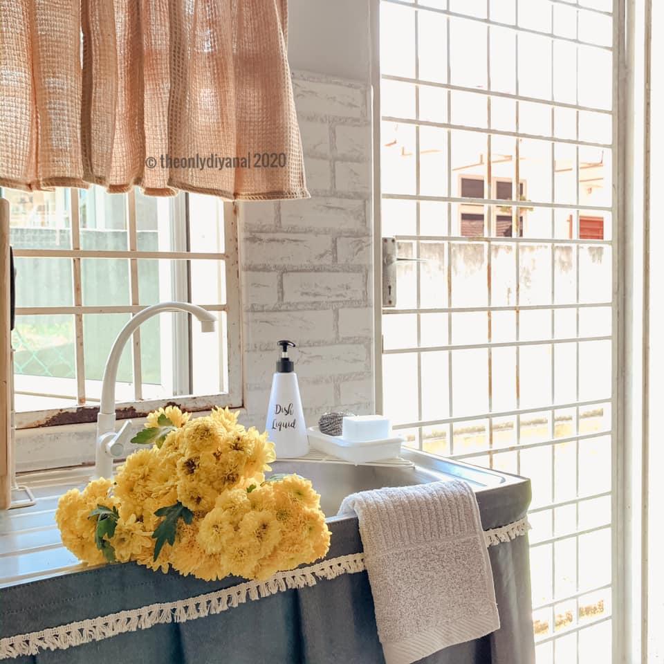 Hanya Gunakan Barangan Bajet, Dapur Dengan Konsep 'Farmhouse' Tampil Sempurna Walau Tanpa Kabinet 23