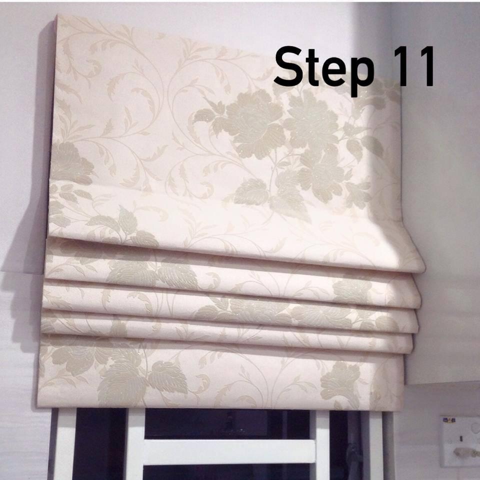Buat Sendiri Roman Blind Dari Wallpaper, Mudah Lap Kotoran Dan Tak Perlu Cuci 12