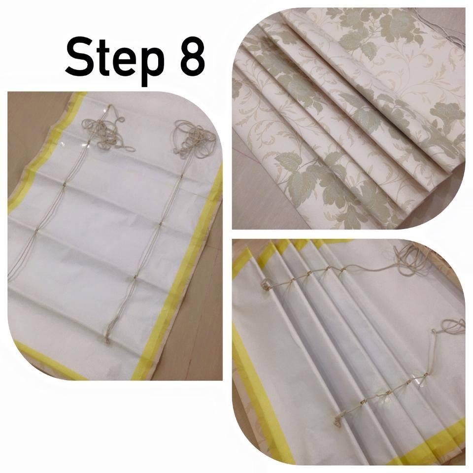 Buat Sendiri Roman Blind Dari Wallpaper, Mudah Lap Kotoran Dan Tak Perlu Cuci 9