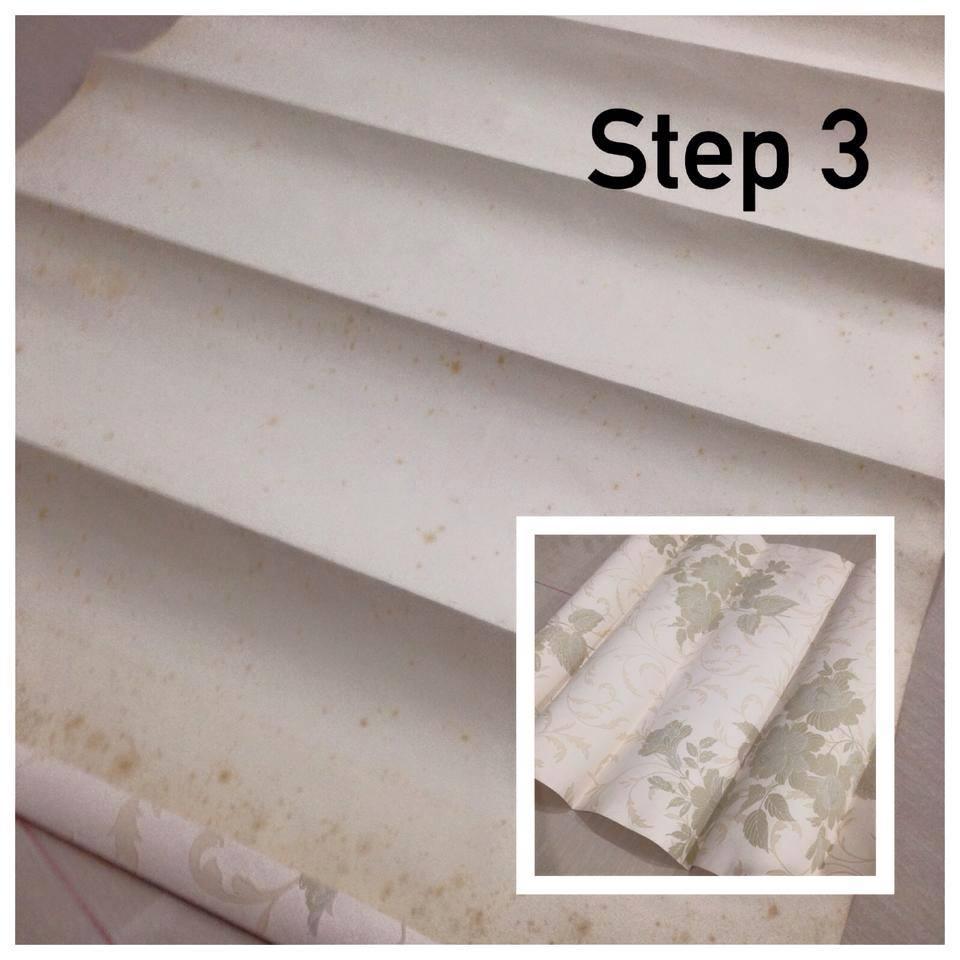 Buat Sendiri Roman Blind Dari Wallpaper, Mudah Lap Kotoran Dan Tak Perlu Cuci 4