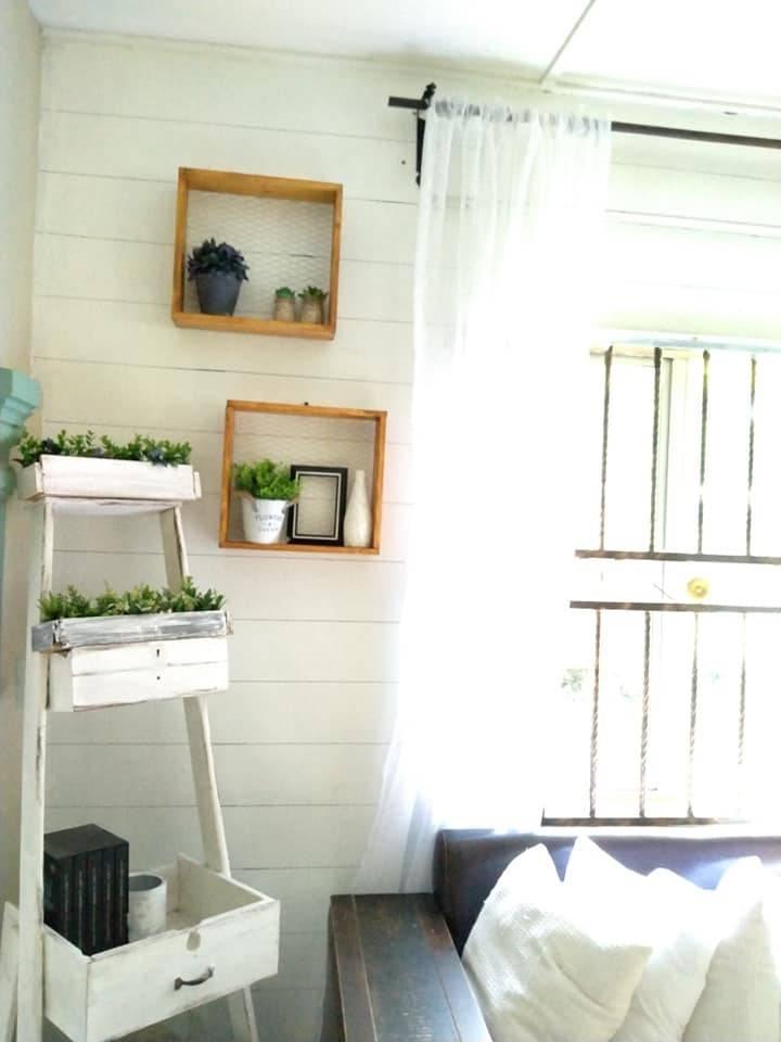 Makeover Ruang Tamu Konsep Farmhouse Guna Barang DIY, Shiplap Wall Pakai Marker Pen Je 10