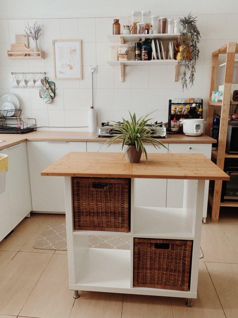 """DIY """"Kitchen Island"""" Dalam Ruang Terhad Dengan Kos RM300 Sahaja! 3"""