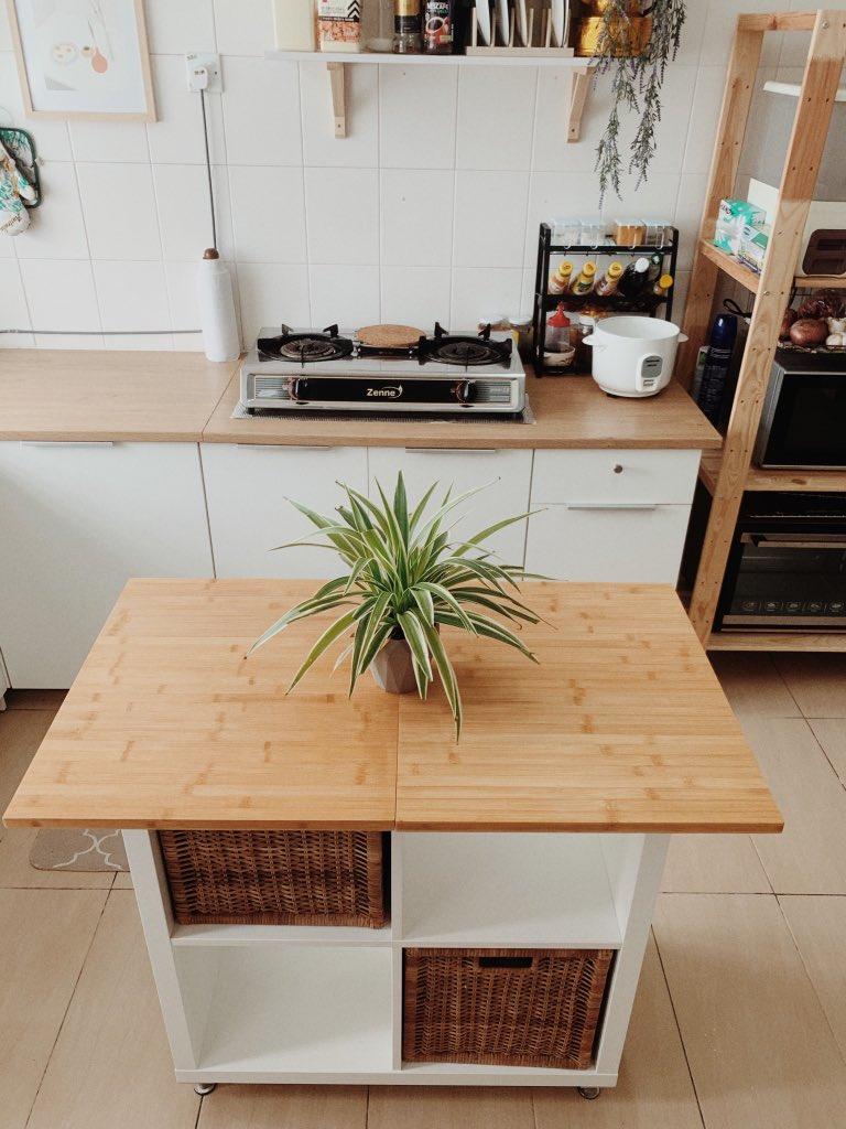 """DIY """"Kitchen Island"""" Dalam Ruang Terhad Dengan Kos RM300 Sahaja! 7"""