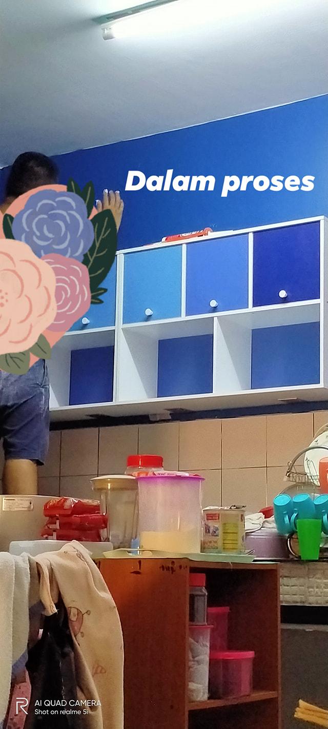 """Makeover"" Dapur Menggunakan Rak Buku Siap Sistem Hydraulic.  5"