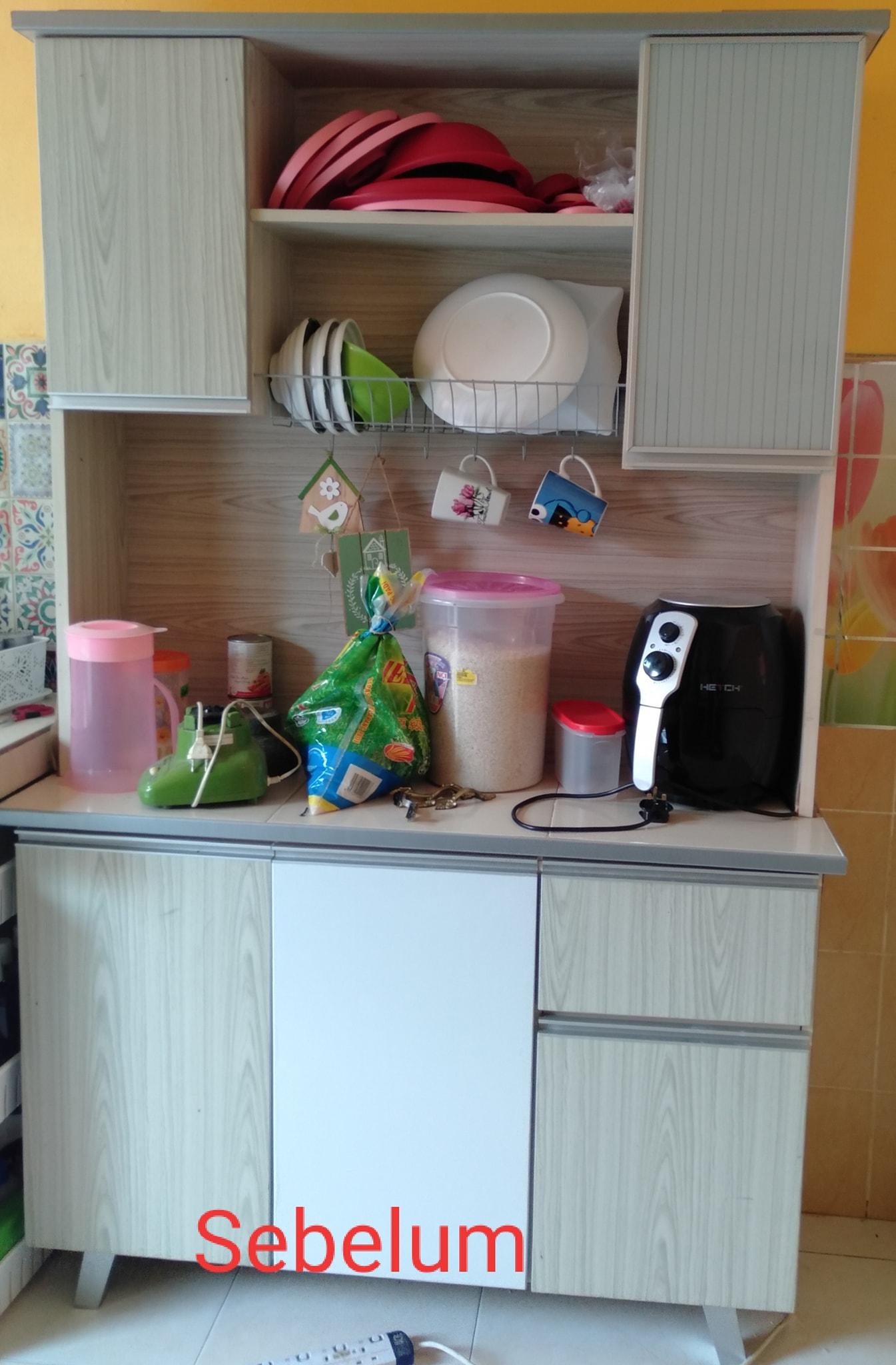 D.I.Y Kabinet Dapur, Mudah Tempah Pintu Dekat Shopee Tinggal Pasang Je 7