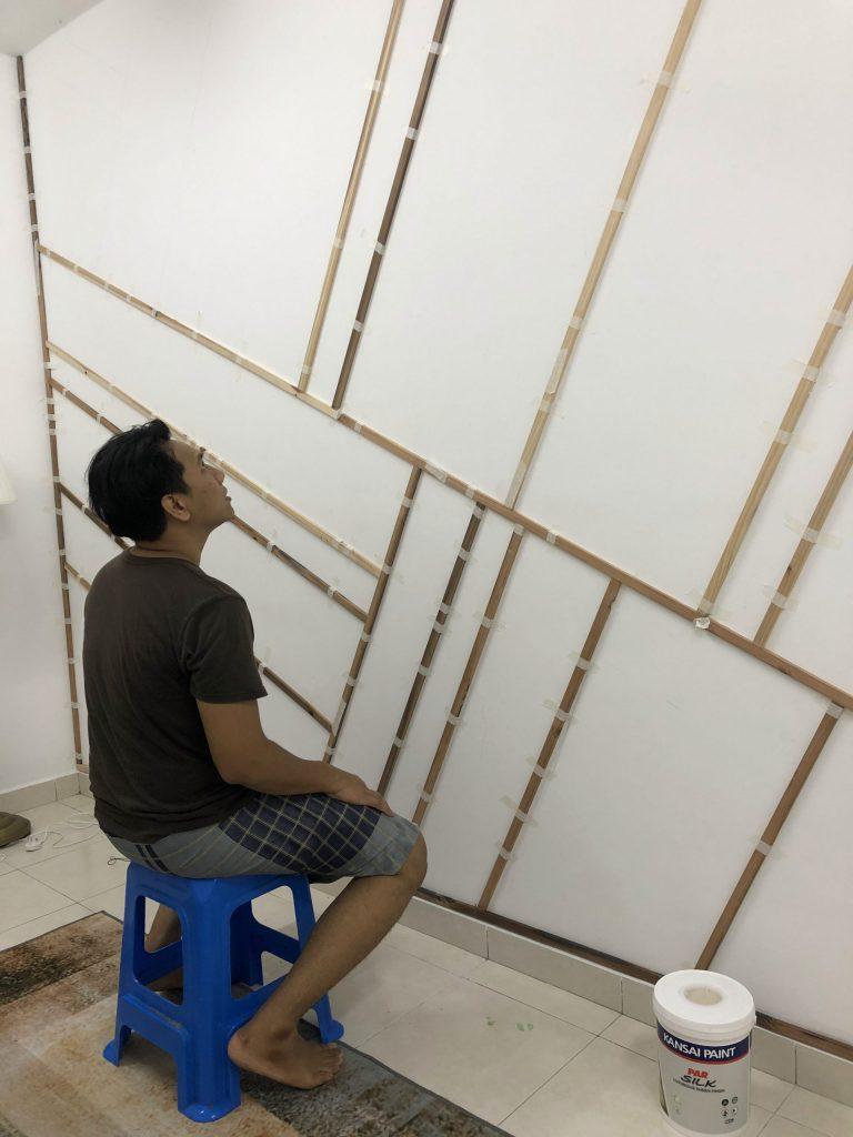 Projek DIY Accent Wall Dengan Bajet RM 210 4