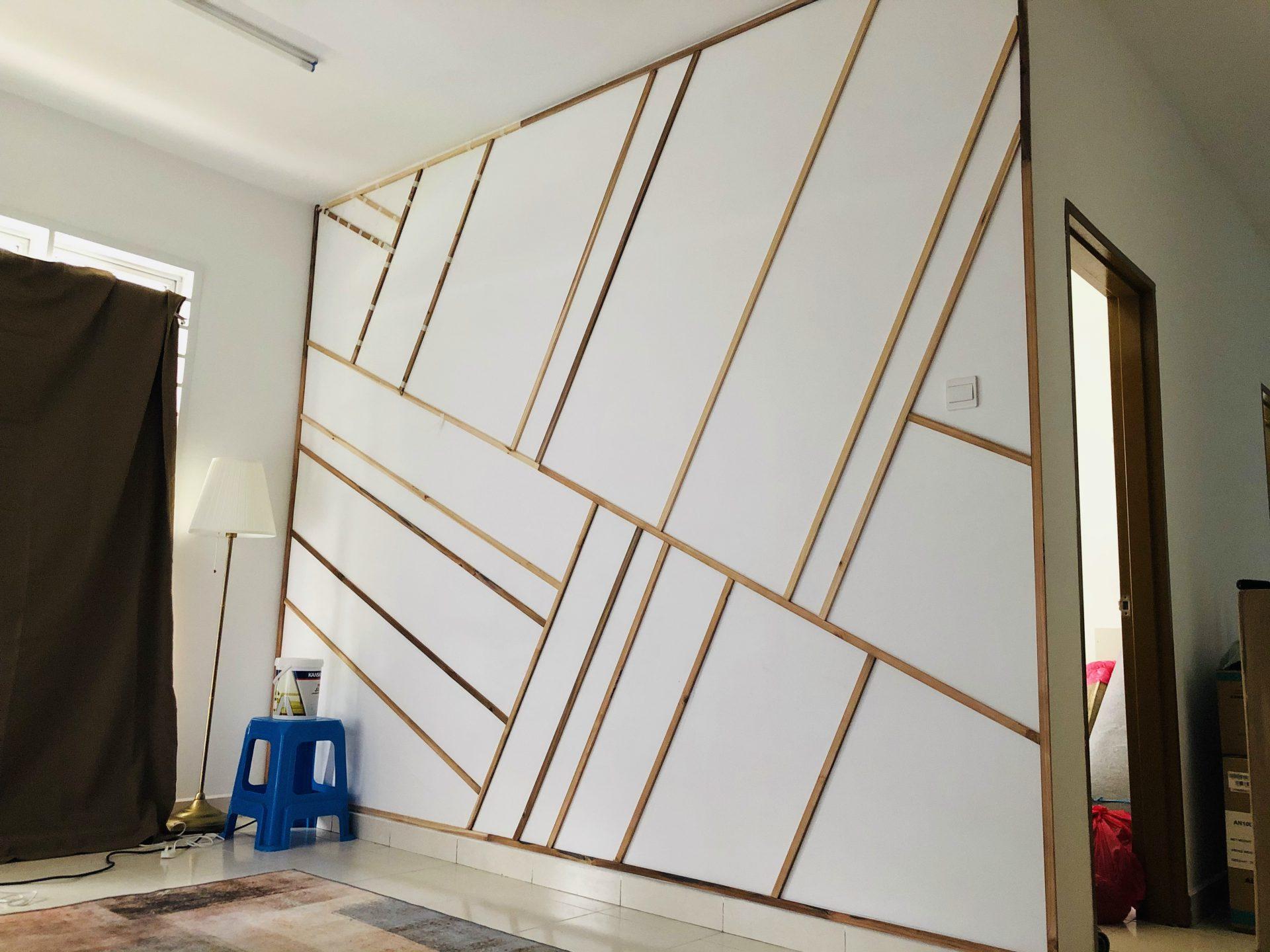 Projek DIY Accent Wall Dengan Bajet RM 210 5