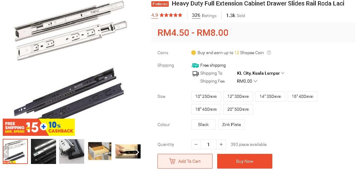 """Modal Tak Sampai RM 10, Tukar Track Laci Jadi """"Soft Close"""" 3"""
