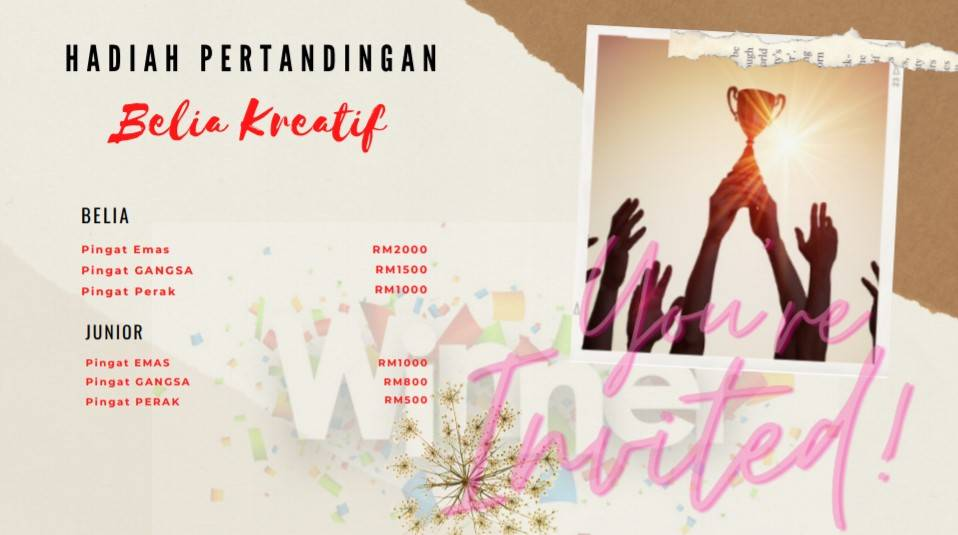 Pertandingan Gubahan Bunga BELIA Kreatif Anjuran KBS 3