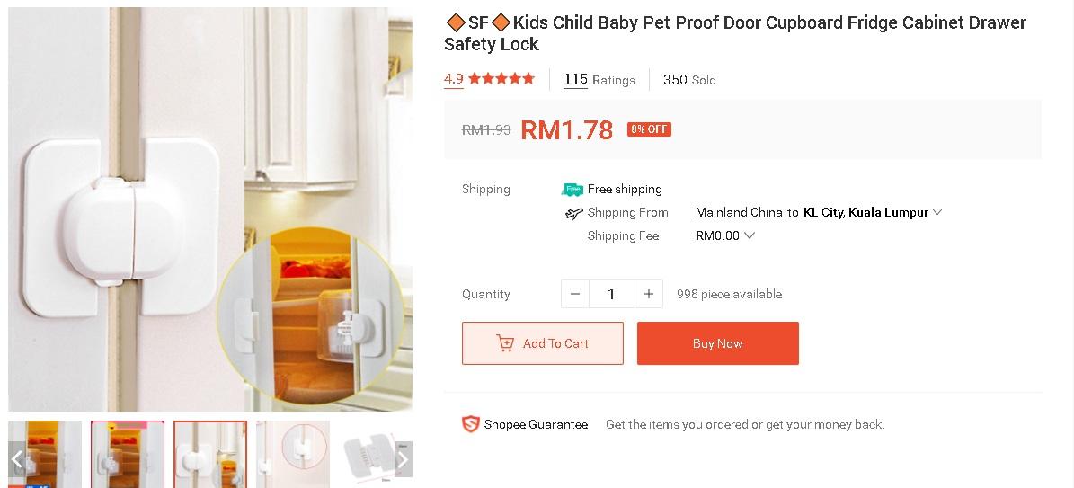 Klip Bawah RM 10 Untuk Keselamatan Si Cilik Yang Tengah Lasak 7