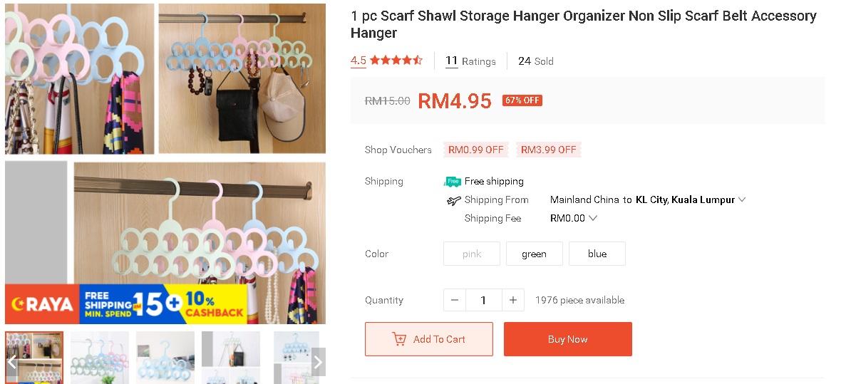 """Organizer"" Tudung Bijak Jimat Ruang Harga Bawah RM 5 Je 6"